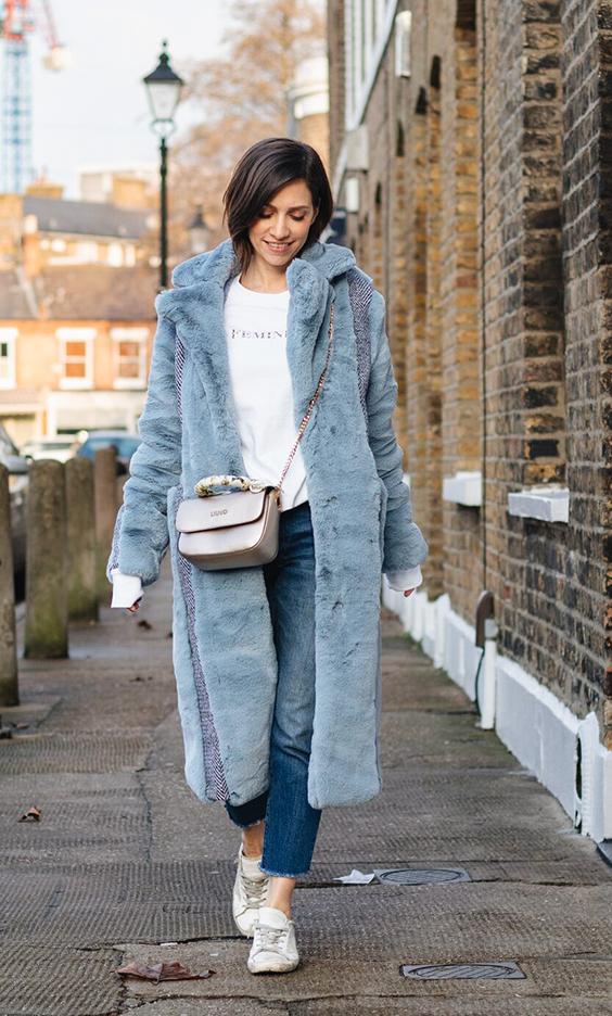 Faux Fur Petite styling